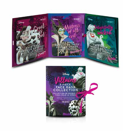 Mad Beauty - Set de 3 masques visage Villains
