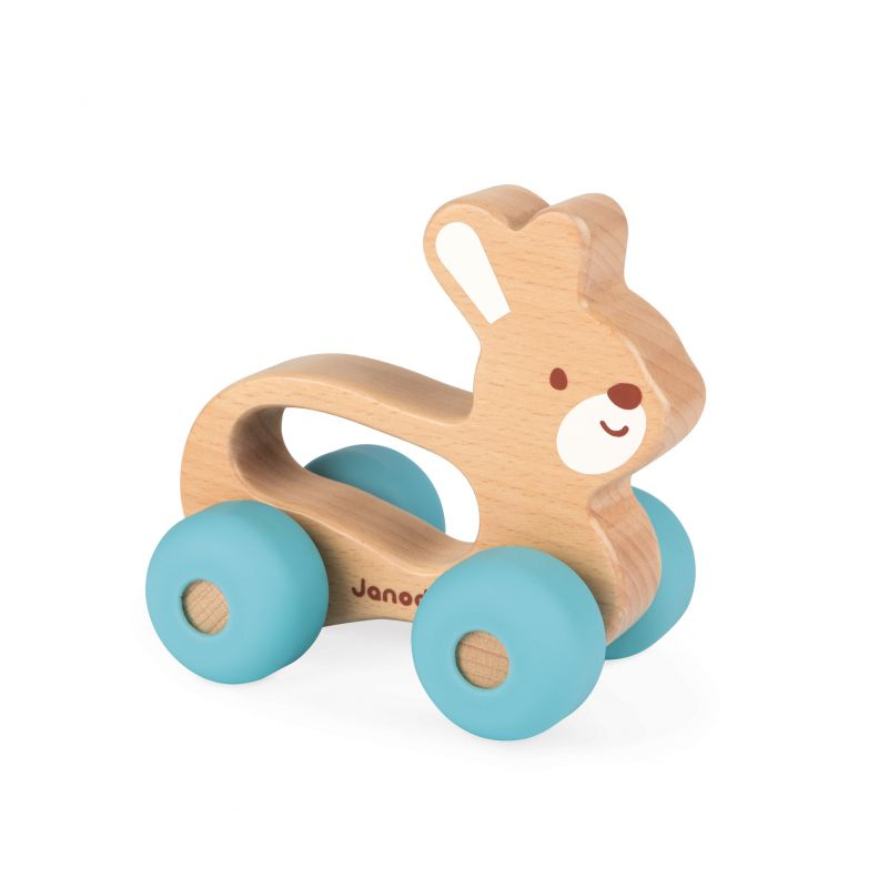 Lapin A Promener Baby Pop (Bois et Silicone)