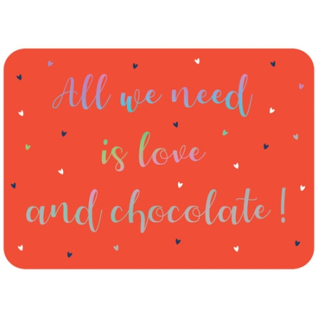 Carte All you need is love and Chocolate