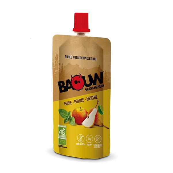 PUREE NUTRITIONELLE BIO BAOUW - POIRE - POMME - MENTHE - 63G
