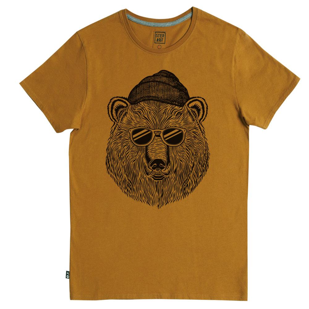 Tee-shirt BEAR & SUN Camel