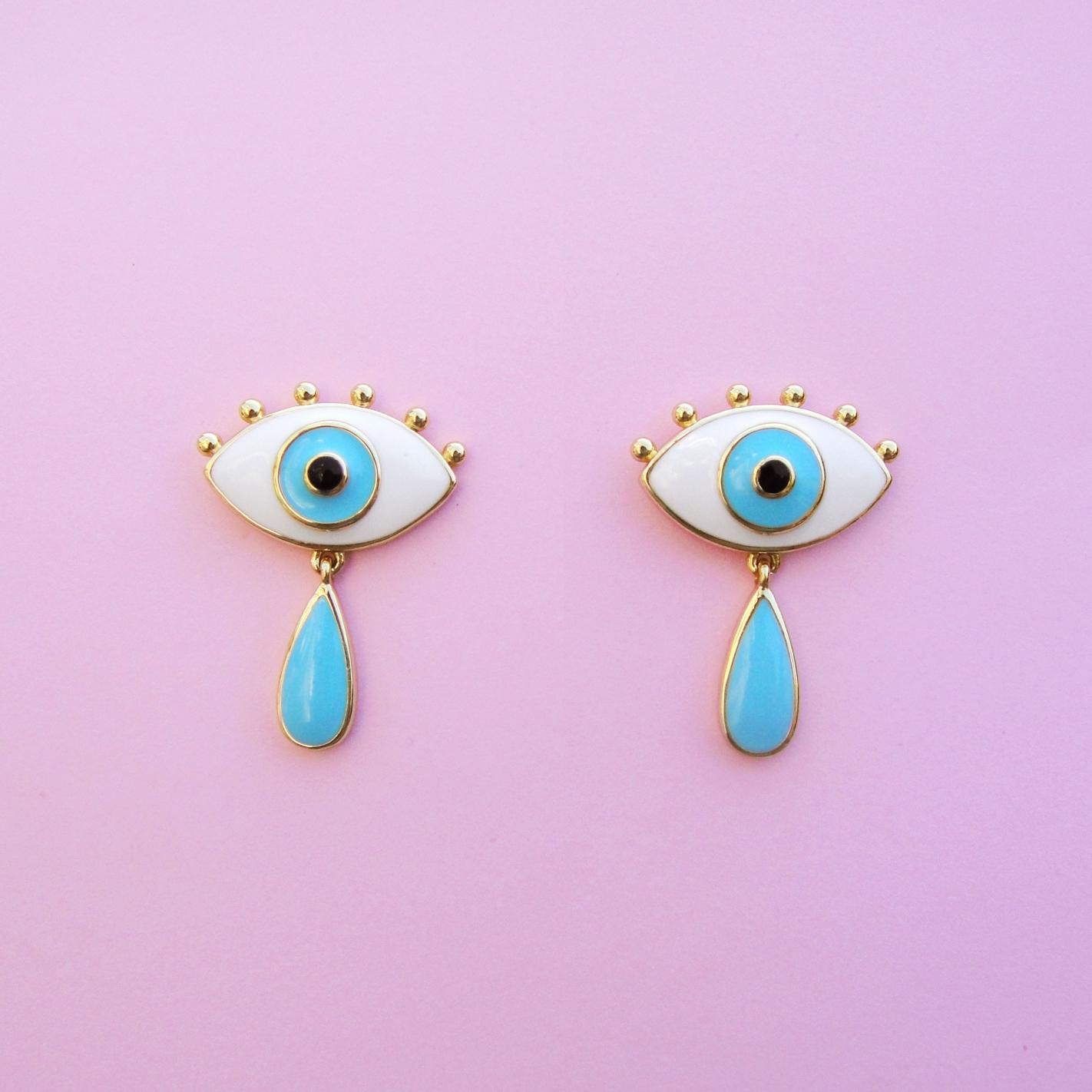 Boucles d\'oreilles Oeil et Larme