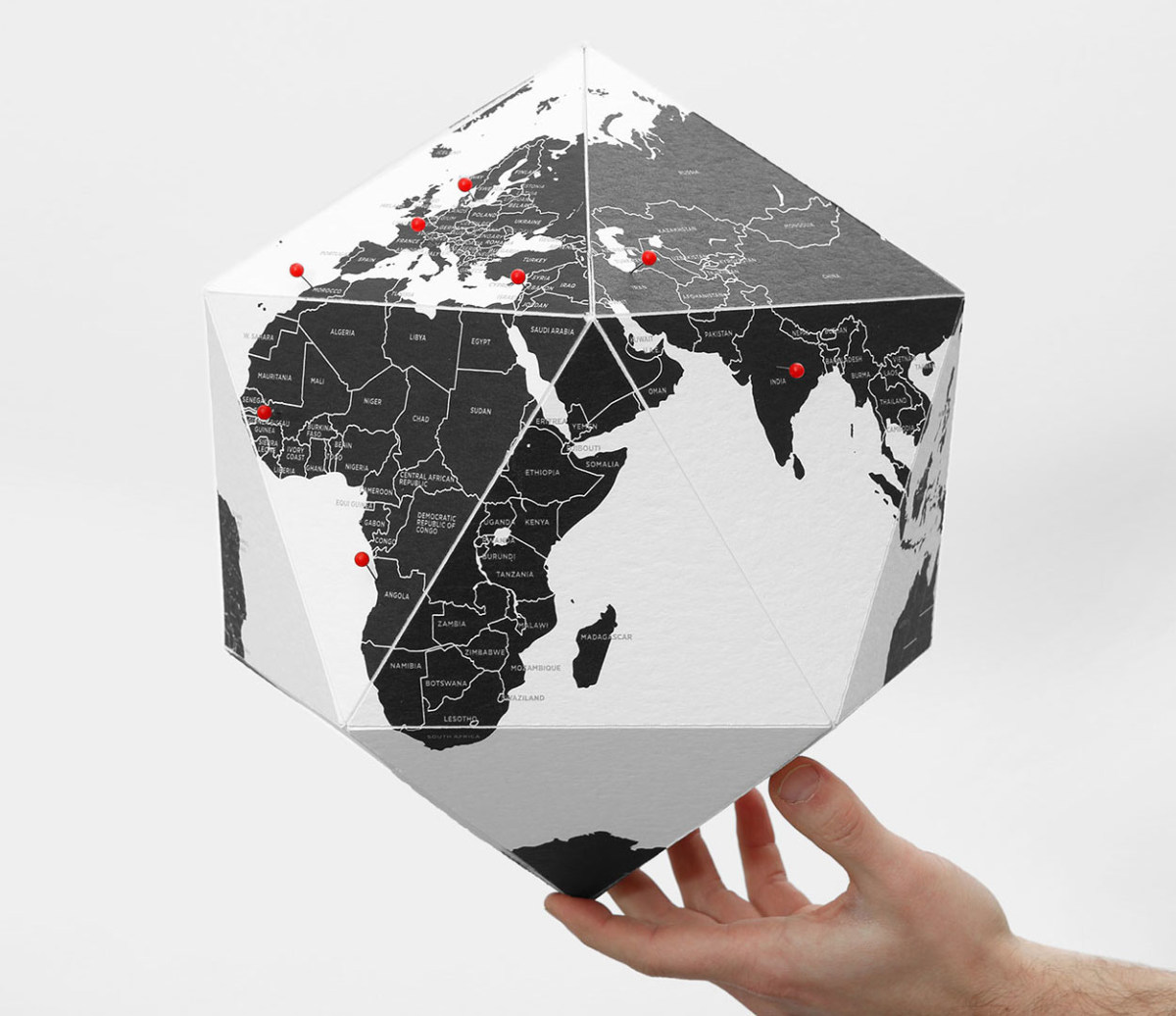 Globe HERE by Countries