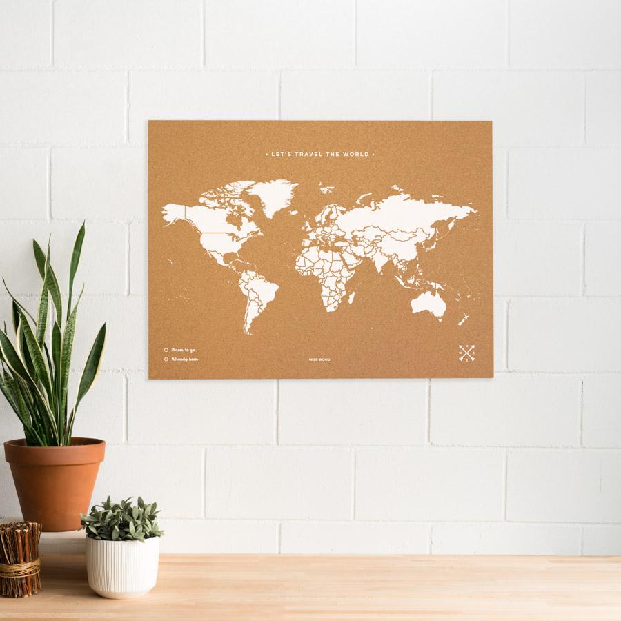 Woody Map Blanc