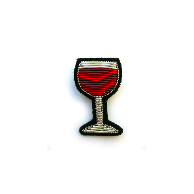 Broche VERRE VIN ROUGE