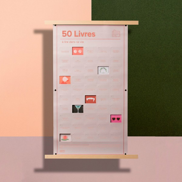Poster 50 Livres à lire