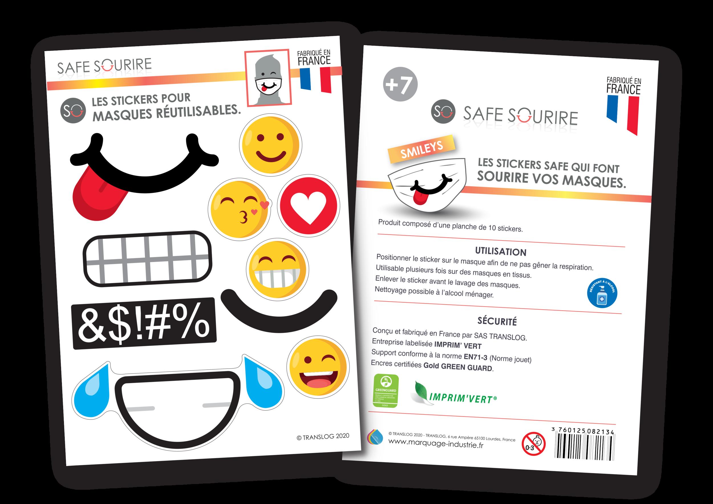 Stickers de masque