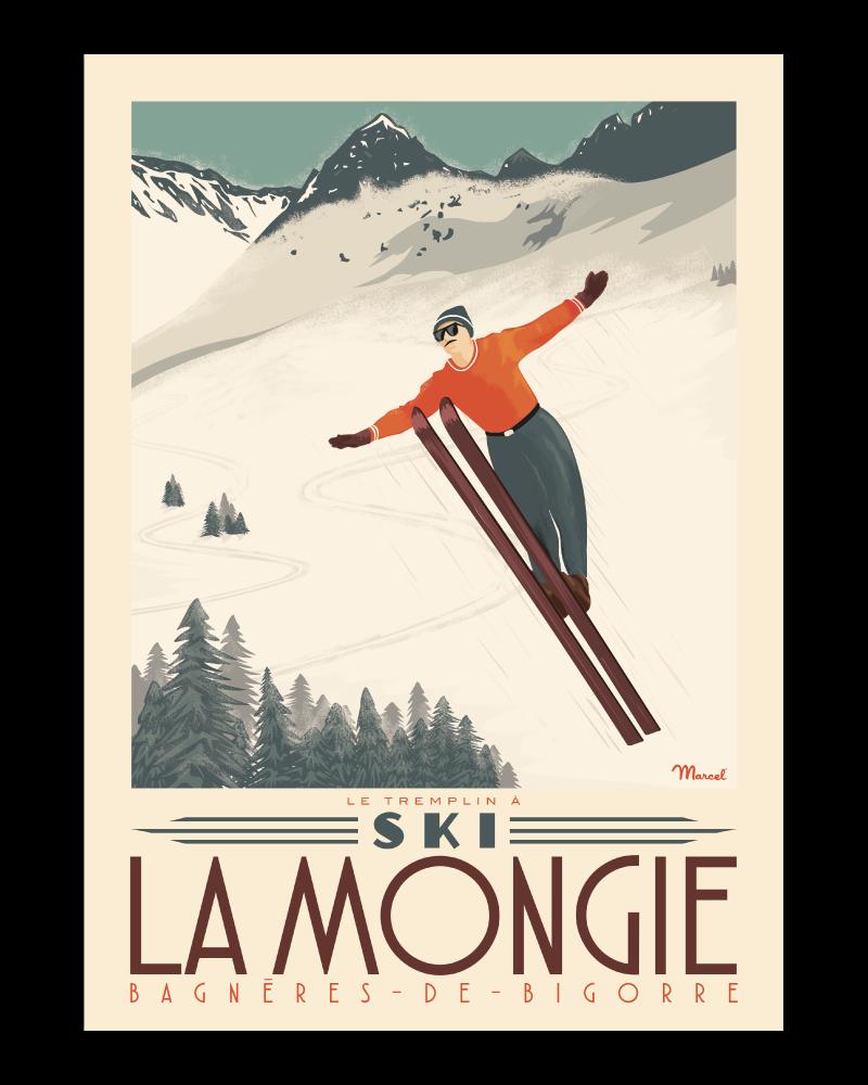 Affiche Pyrénées  La Mongie