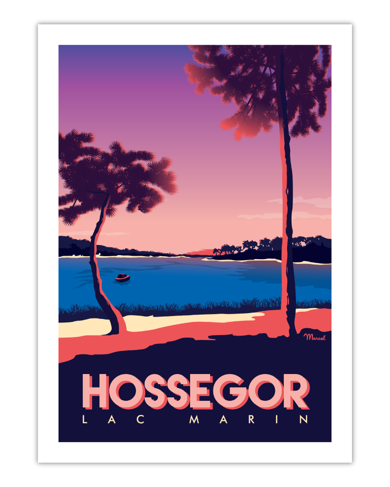 Affiche Hossegor Le Lac Marin