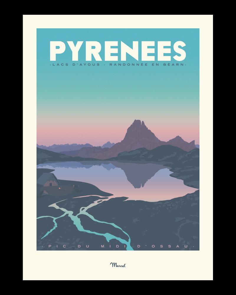 Affiche Pyrénées Lacs d\'Ayous