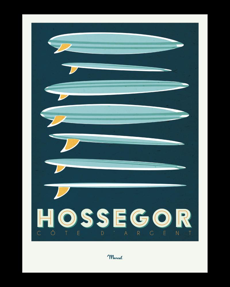 Affiche Hossegor Surfboards