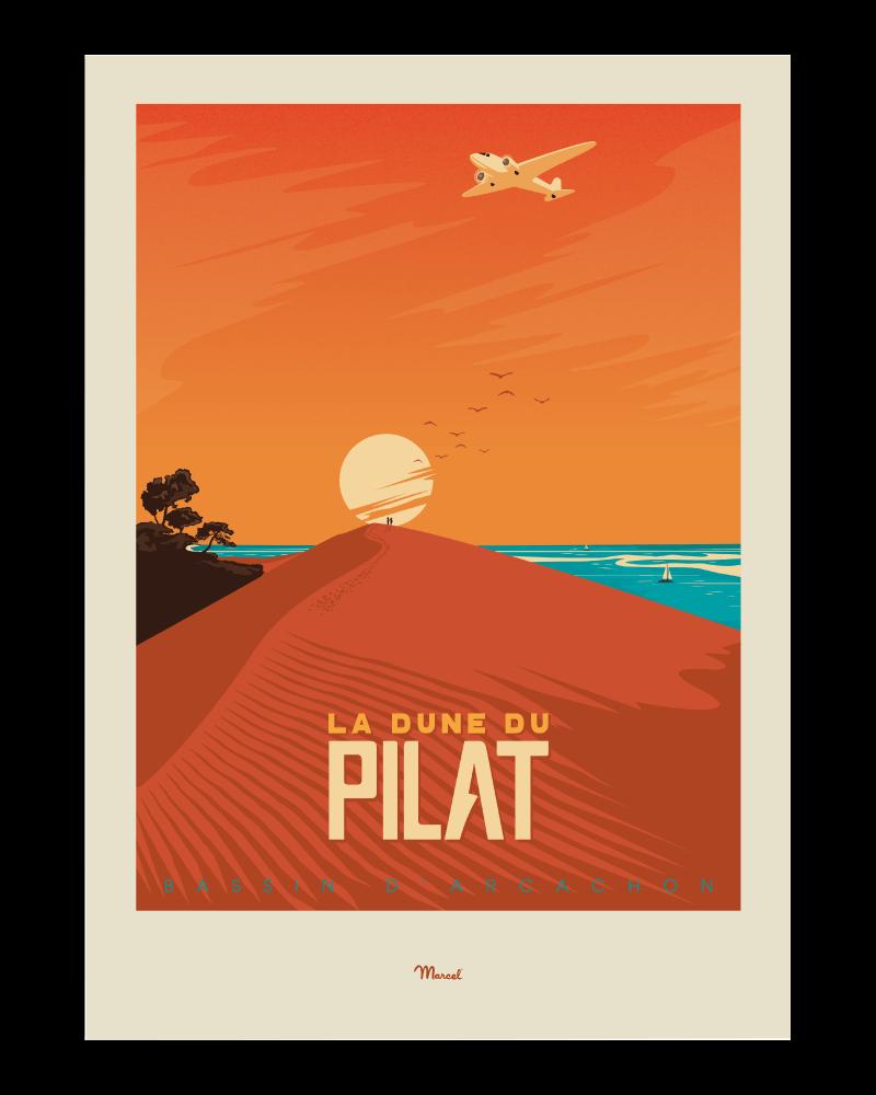 Affiche Bassin d\'Arcachon Dune du Pilat