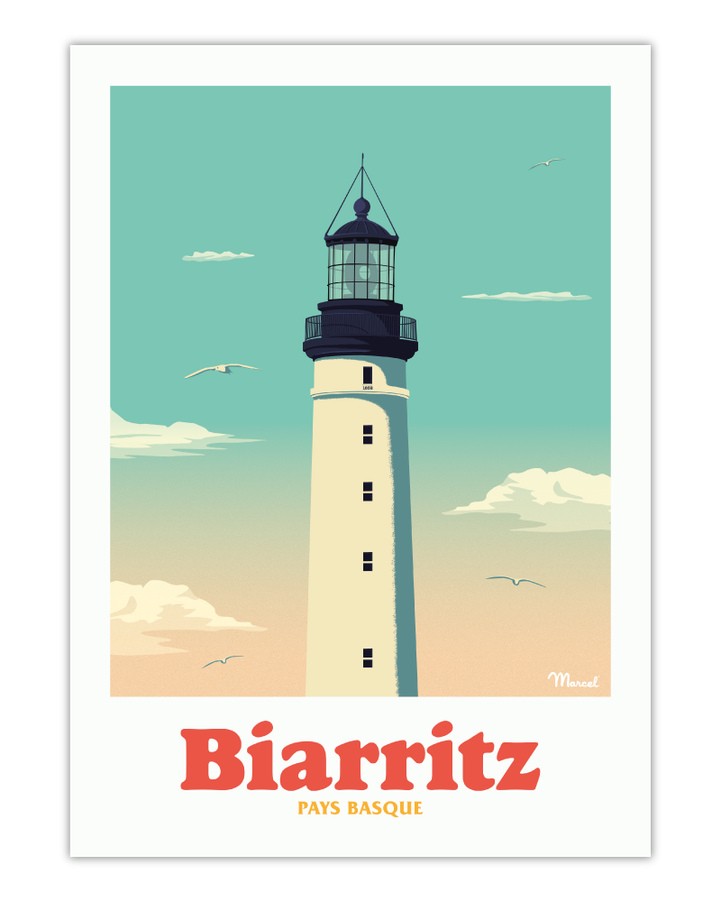 Affiche Biarritz Le Phare