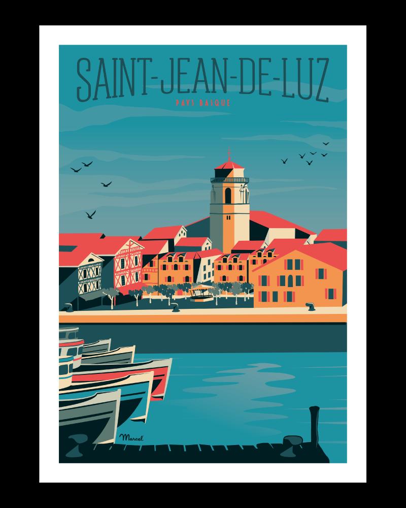 Affiche Saint-Jean-de-Luz Le Port