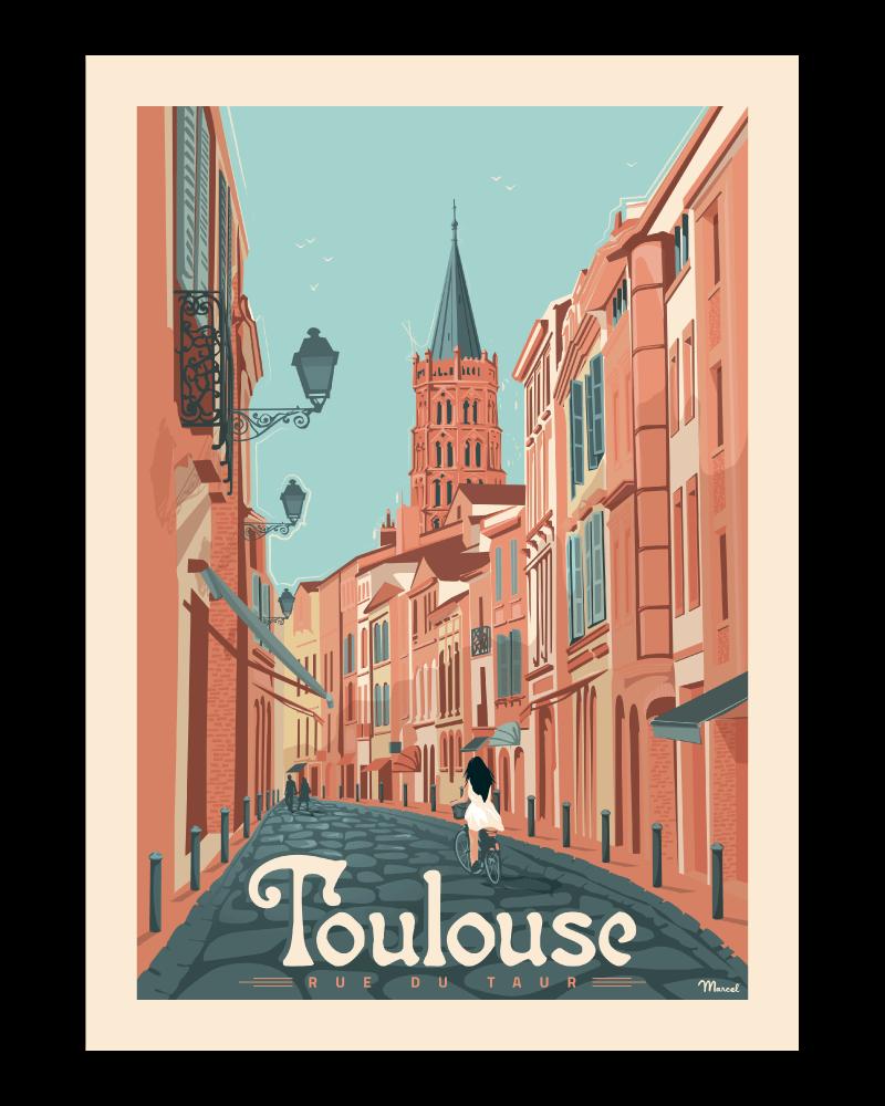 Affiche Toulouse Rue du Taur