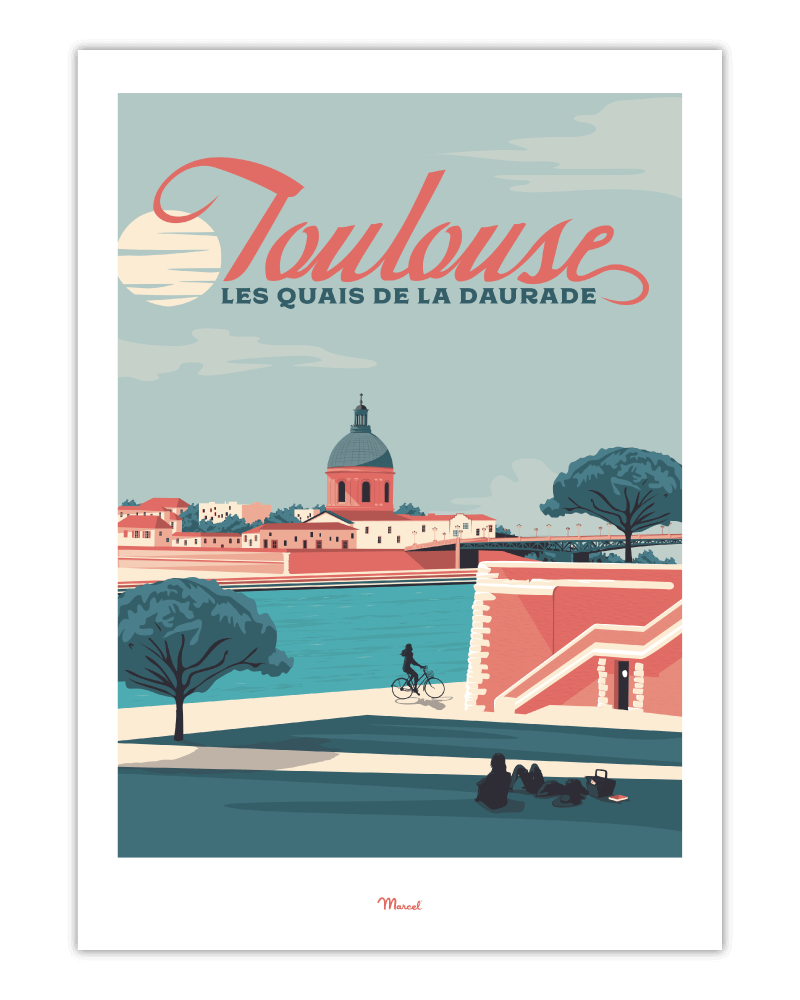 Affiche Toulouse Quais de la Daurade