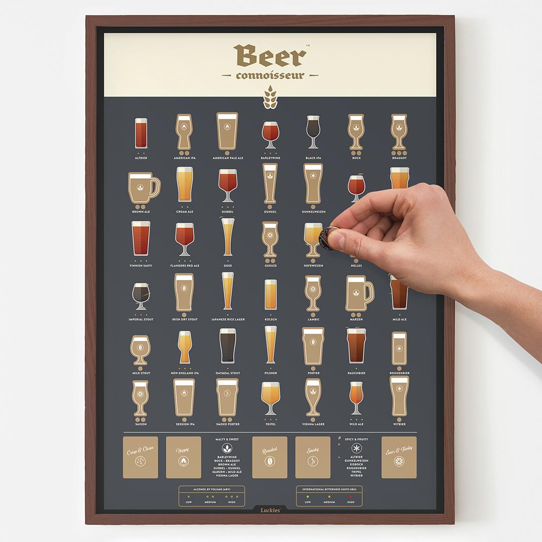 Affiche à gratter bière