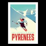affiche-pyrenees-le-skieur