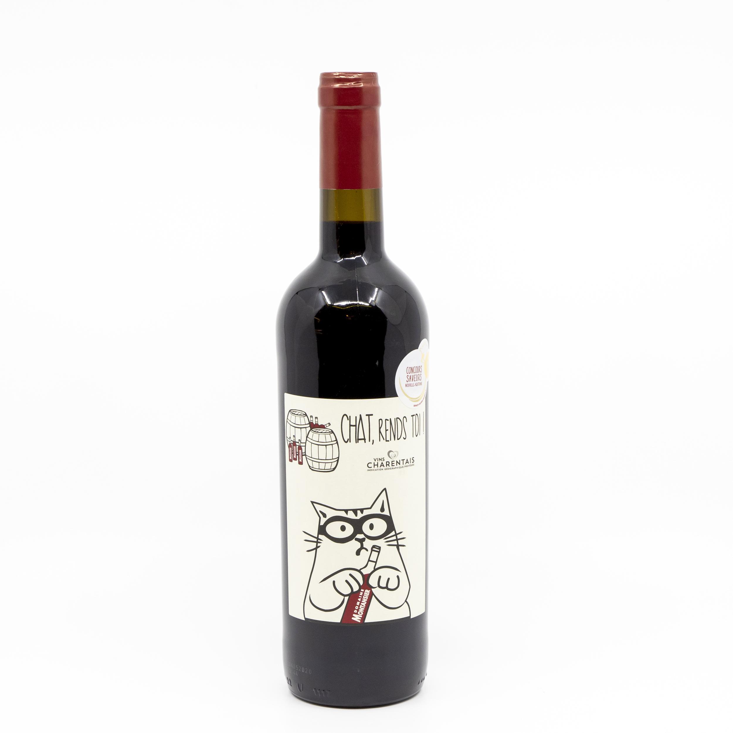vin rouge le chat