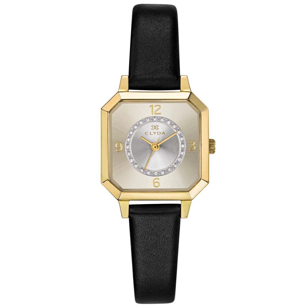 montre-clyda-cld0503ptan-boitier-acier-dore-bracelet-cuir-noir-cadran-nacre-femme_1188573_1200x1200