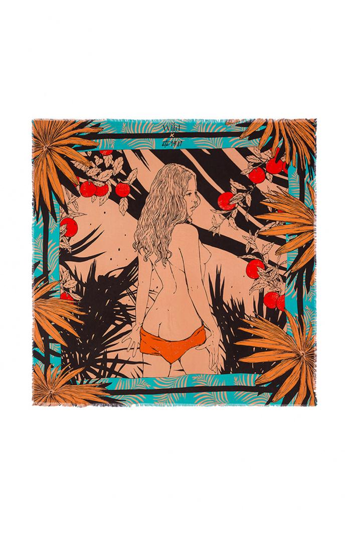 Foulard Palmlady Turquoise 1