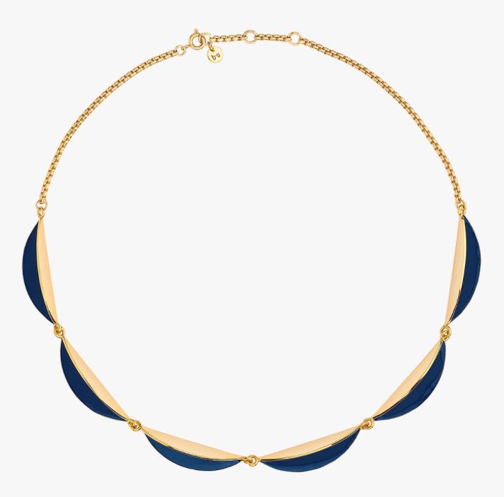 collier calisson bleu