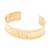 Bracelet manchette motif aztèque (doré)