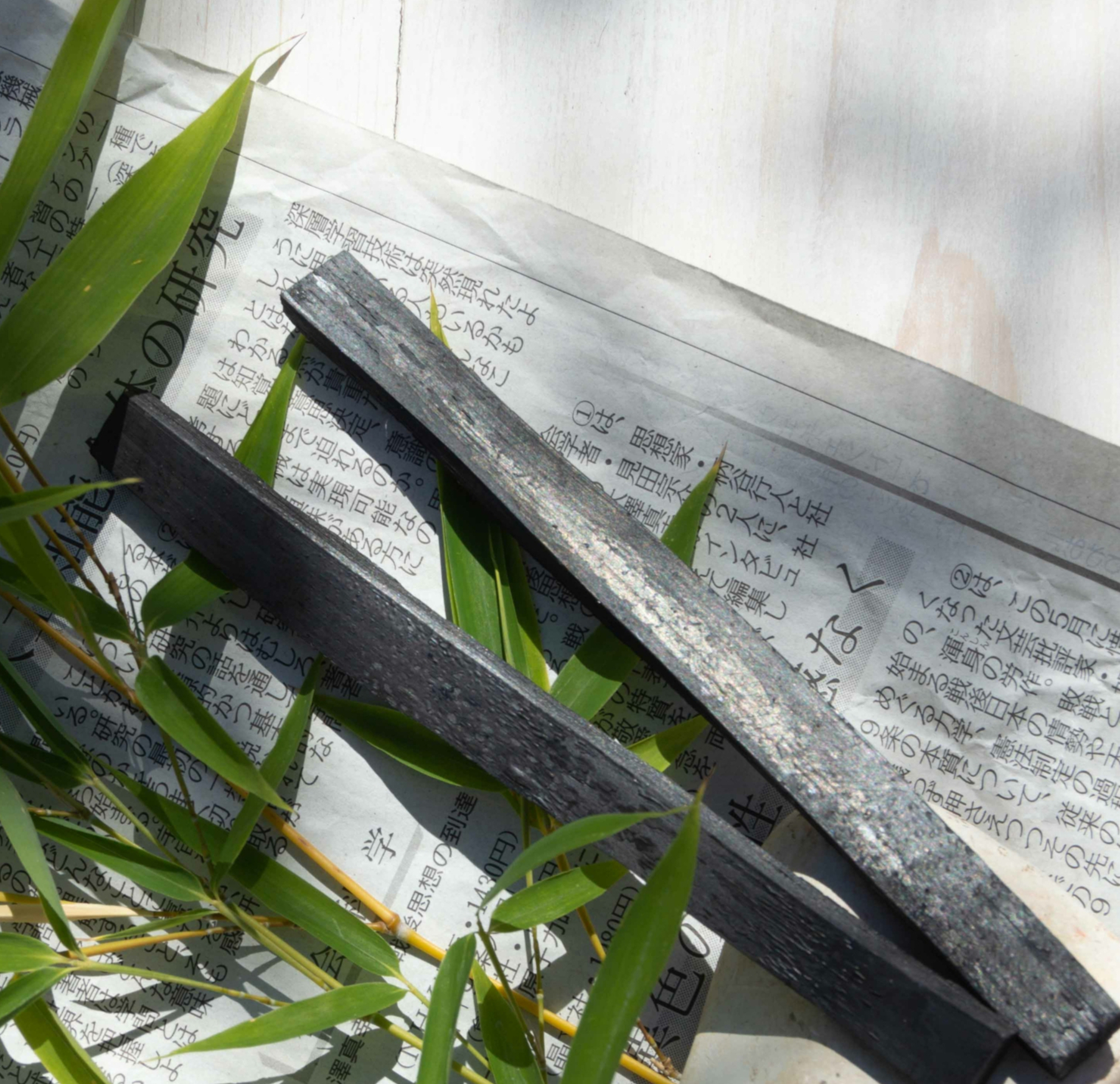 Charbon végétal actif de bambou - 2 sticks carafe - 1 an de purification d\'eau