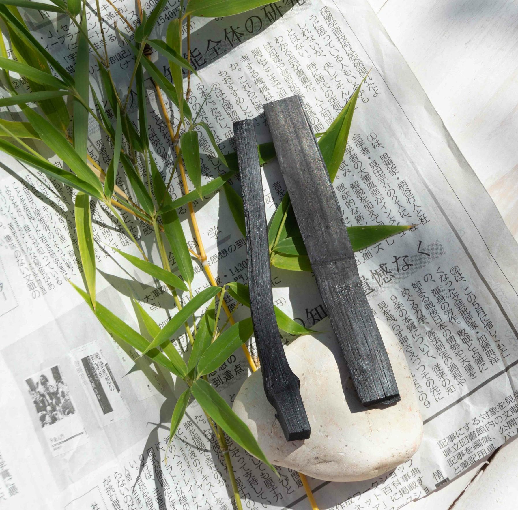 Charbon végétal actif de bambou - 2 sticks gourde - 1 an de purification d\'eau