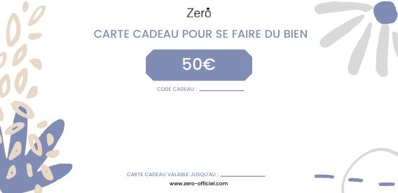 Carte cadeaux Zero 50€