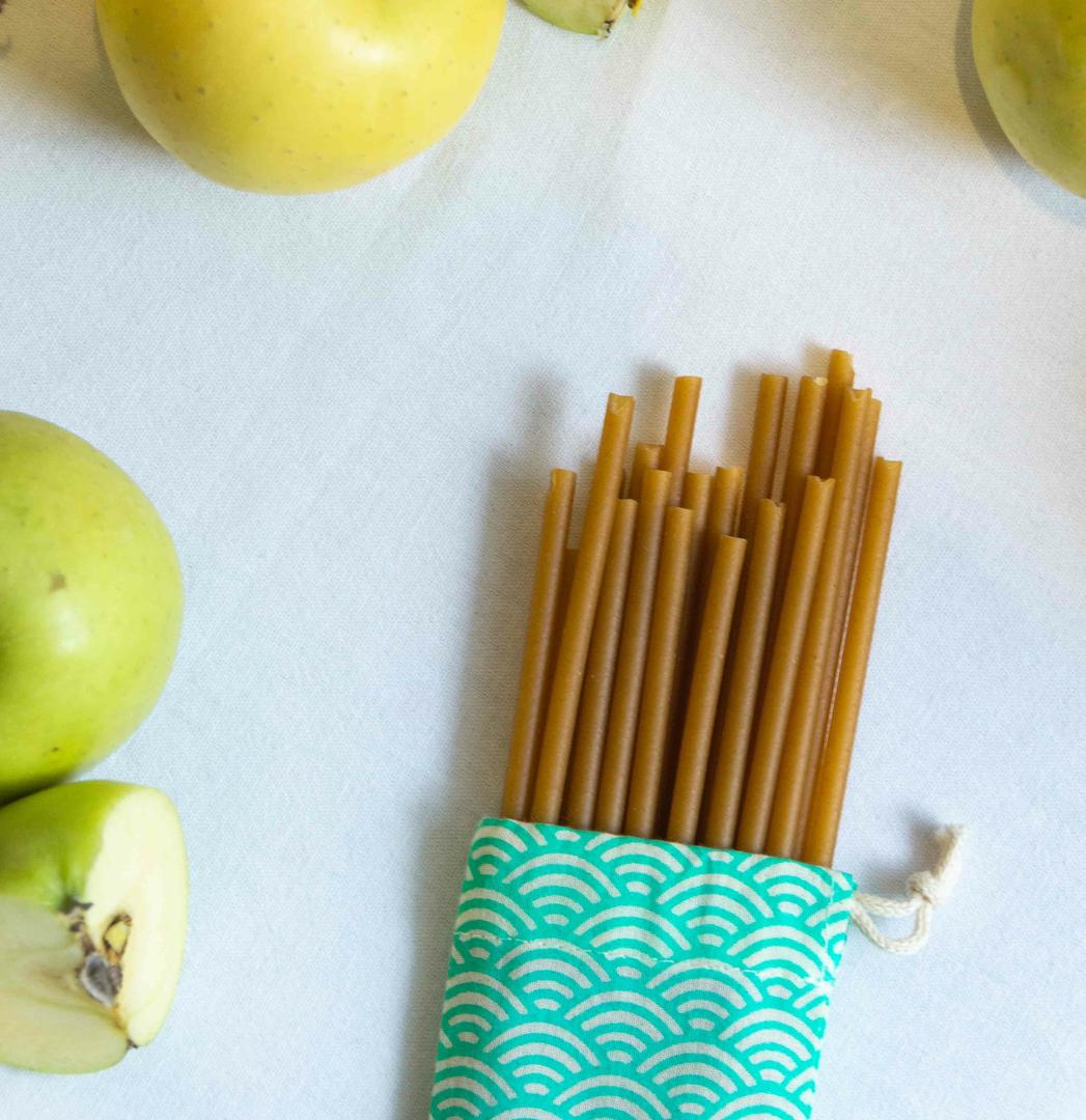 Pailles comestibles en fibres de pomme - ZERO