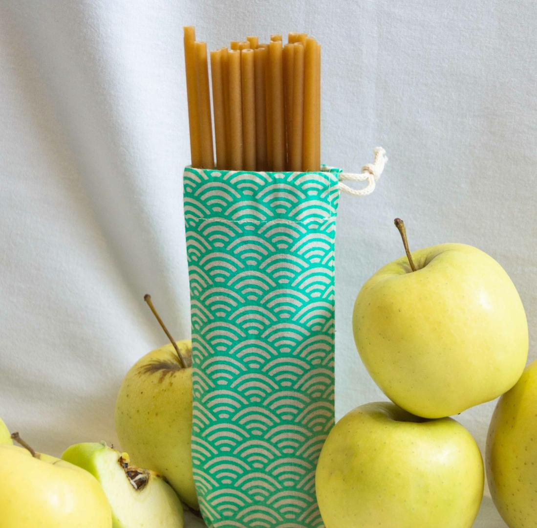 Pailles en fibre de pomme ZERO - comestibles