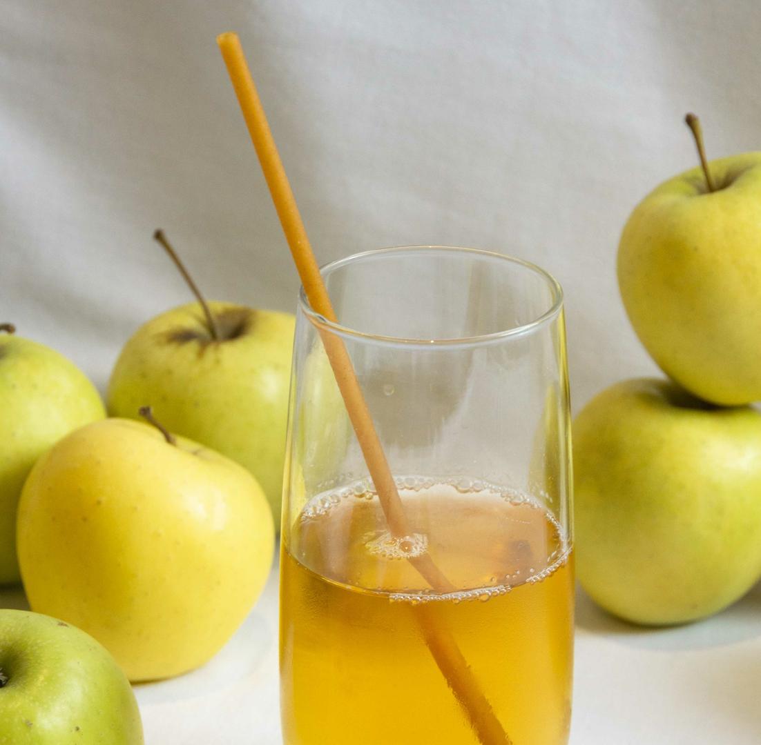 Pailles de pomme comestibles ZERO
