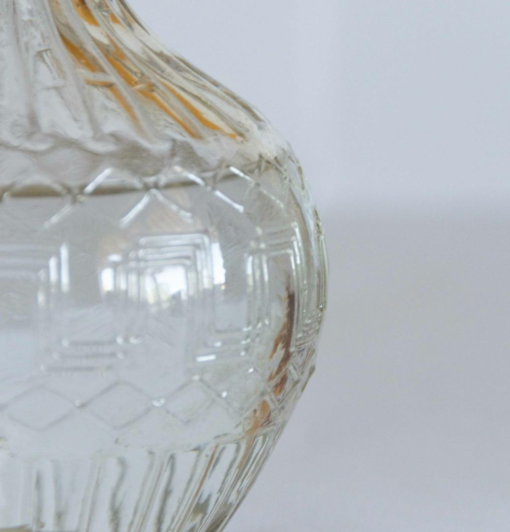 jolie carafe en verre ciselée Zero