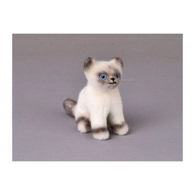 PELUCHE MINI CHATON BIRMAN ASSIS 12 CM