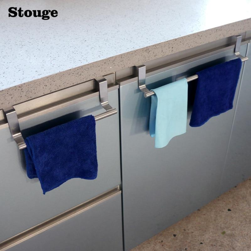 Porte-serviettes en acier inoxydable pour salle de bain ou cuisine