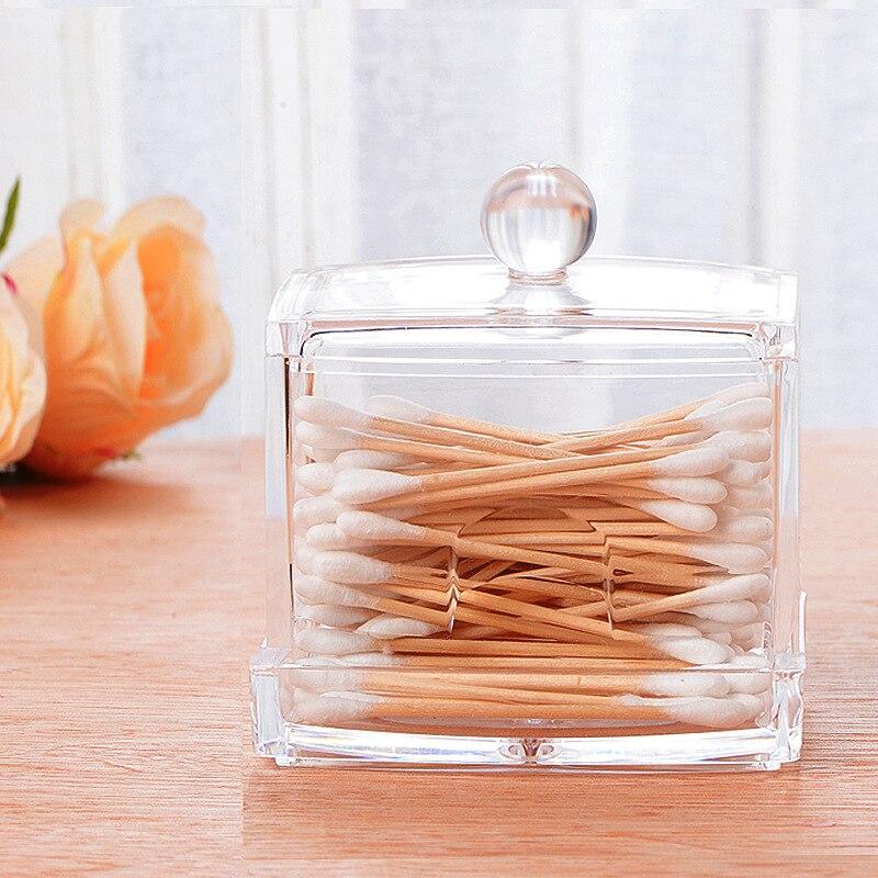 Boîte de rangement pour organisateur de coton-tige en acrylique