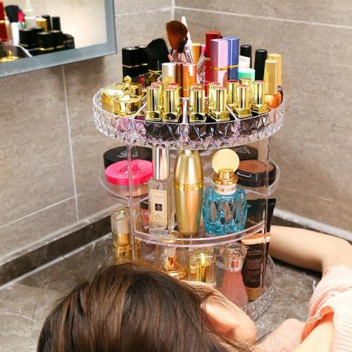 Organisateur de maquillage rotatif à 360°.