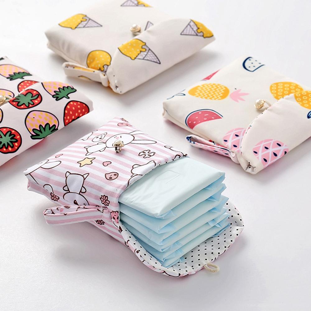 Petit sac de rangement pour serviettes hygiéniques
