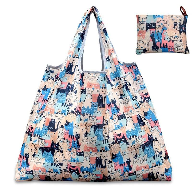 Nouveau sac à provisions 6 couleurs dame pliable