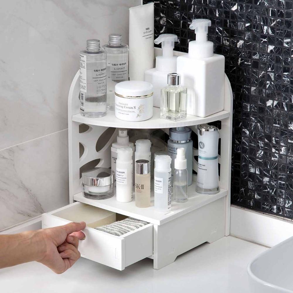 Organisateur, étagère en bois pour salle de bain