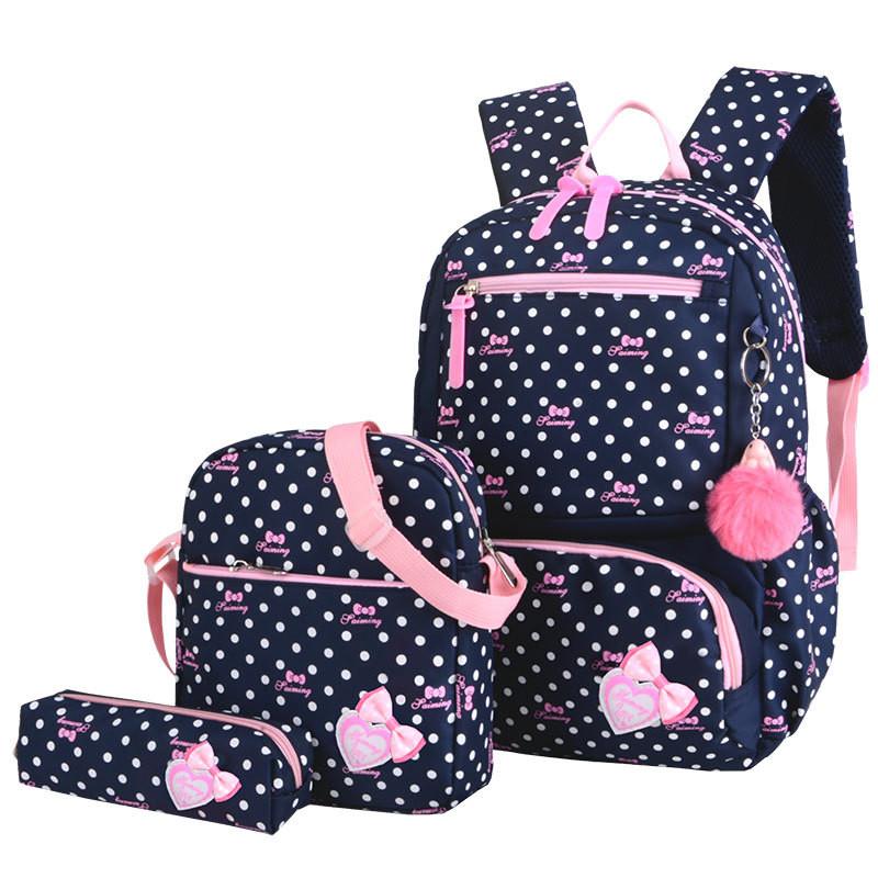 Cartable pour enfant avec petit sac et trousse