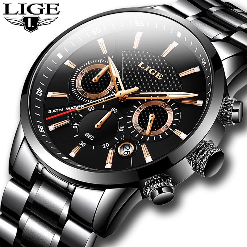 Montre de luxe LIGE pour homme