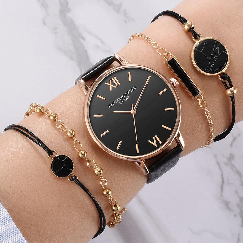Ensemble Montre avec bracelet (ensemble de 5 pièces)