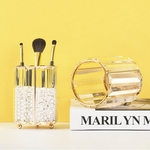 Maquillage-porte-brosse-organisateur-or-verre-clair-stylo-d-coratif-porte-crayons-cosm-tique-brosse-bo
