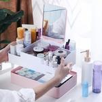 Organisateur maquillage avec miroir