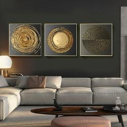 top-qualit-toile-peinture-abstraite-or-noir-carr-texture-affiches-et-impressions-mur-art-photos-pour