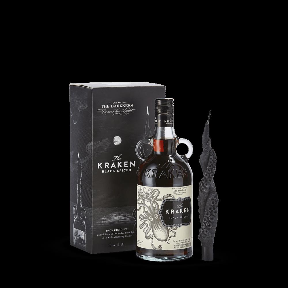 KRAKEN, Black Spiced Rum 47%, Exclusivité Caviste, Candle Gift