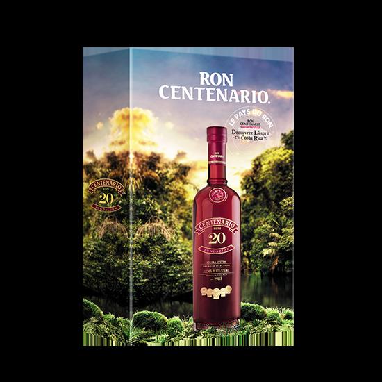 CENTENARIO, 20 FUNDACION, COFFRET DEUX VERRES