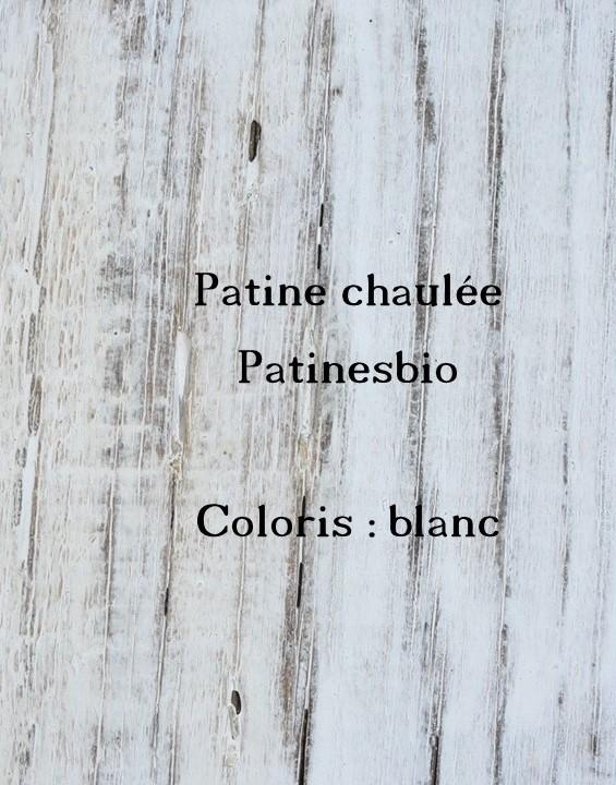 patine chaulée blanc pur